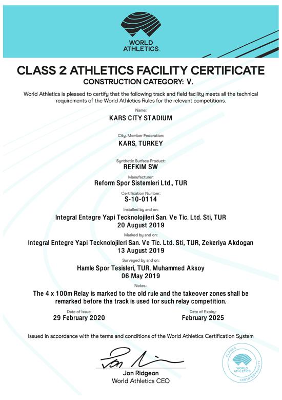 iaff kars certificate reform spor